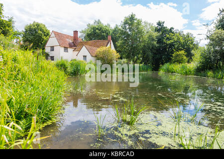 Flatford Mill, Suffolk, England UK - Stock Photo