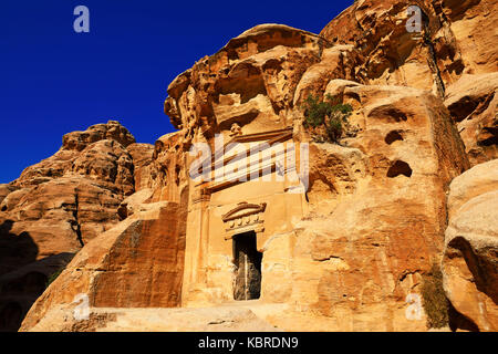 Old rock-church in Little Petra, Jordan - Stock Photo