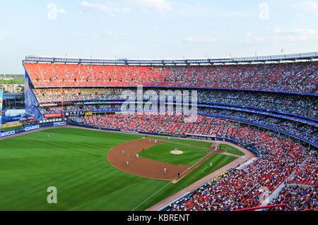 Flushing, New York - June 25, 2008: Mets major league baseball game in Shea Stadium. - Stock Photo