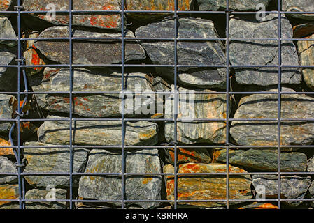 Wire Gabion Rock Fence Metal Cage Filled With Rocks
