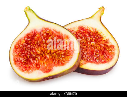 sliced figs path isolated - Stock Photo