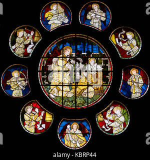 The Annunciation, Church of St Martin-on-the-hill, Scarborough, United Kingdom - Stock Photo