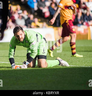 Motherwell Vs Partic Thistle football 30092017 - Stock Photo