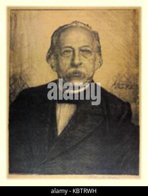 Hanns Fechner Portrait Theodor Fontane - Stock Photo