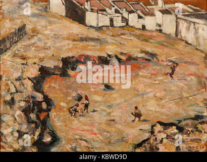 Harry Caldecott   The Cricket Match (Malay Quarter) - Stock Photo