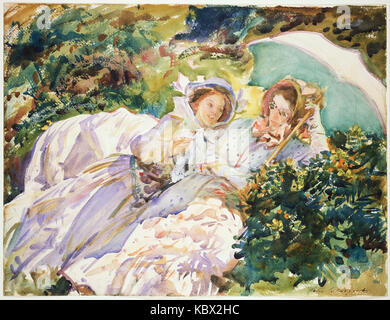 John Singer Sargent   Simplon Pass  The Tease - Stock Photo
