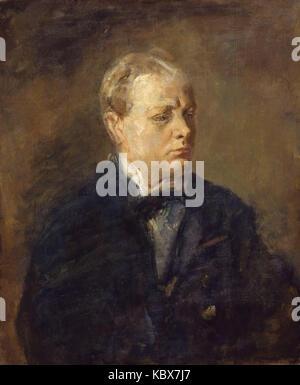 Sir Winston Leonard Spencer Churchill by Ambrose McEvoy - Stock Photo