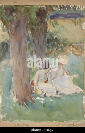 John Singer Sargent   Under the Willows - Stock Photo