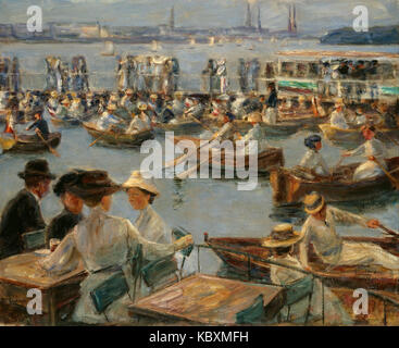 Max Liebermann   On the Alster in Hamburg - Stock Photo