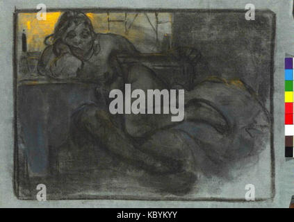 Autor Alfons Mucha 24.7.1860 14.7.1939   Absint Studie zeny