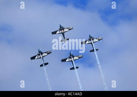 The Blades aerobatic team performing at the 2011 Bournemouth Air Festival, Dorset UK - Stock Photo
