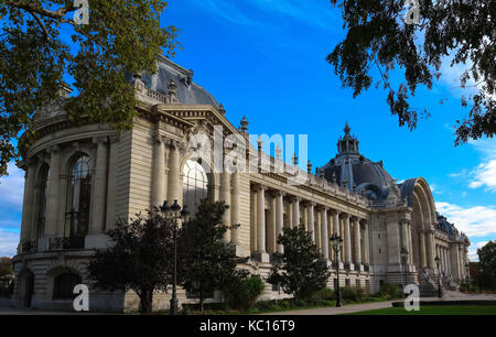 Lateral view of the building Small Palalce-Petit Palais in Paris. - Stock Photo