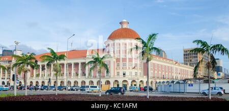 The National Bank of Angola or Banco de Nacional de Angolawith colonial architecture in capital Luanda, Angola, - Stock Photo
