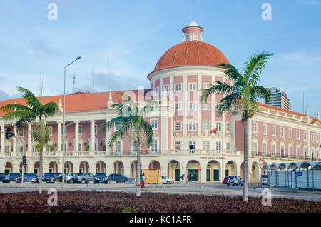 The National Bank of Angola or Banco de Nacional de Angolawith colonial architecture in capital Luanda, Angola, - Stock Photo