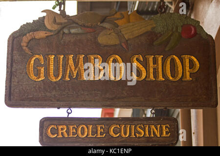 Gumbo shop french quarter new orleans louisiana stock - French creole cuisine ...
