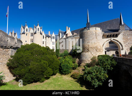 Castle of Montreuil Bellay, Maine et Loire Department, Pays de la Loire Region, Loire Valley, France - Stock Photo