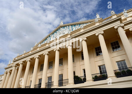 Chester Terrace, Outer Circle, Regent's Park, London NW1, United Kingdom - Stock Photo
