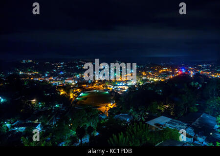 Beautiful view of Kandy by night in Sri Lanka - Stock Photo