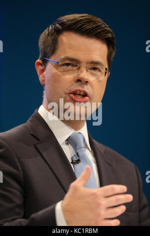 James Brokenshire Mp Secretary Of State For Northern Ireland Conservative Party Conference 2017 Manchester Central, - Stock Photo