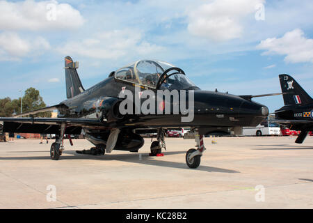 BAE Systems Hawk T2 military jet trainer of the Royal Air Force - Stock Photo
