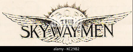 1932 - The badge & logo of SKYWAYMEN (Model aircraft enthusiasts) who were members of a club begun in the 1930's - Stock Photo