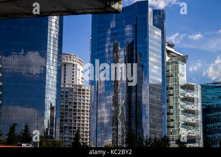 Santa Fe buildings in Mexico City - Stock Photo