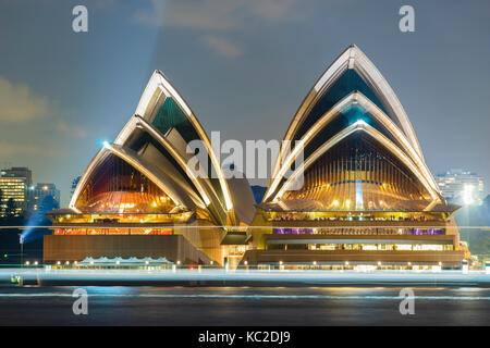Sydney Opera House at night - Stock Photo
