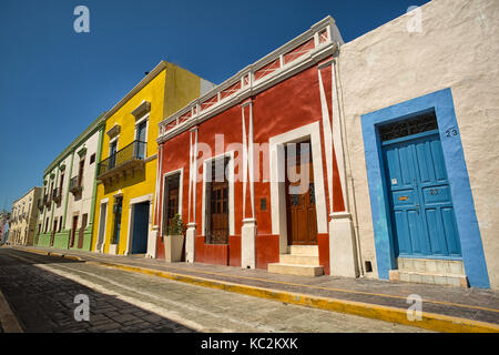 April 21, 2014 Campeche, Mexico: the UNESCO world heritage town is known for its colourful well preserved colonial - Stock Photo