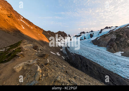 Blue Glacier and Mount Olympus in the dramatic setting at the end of