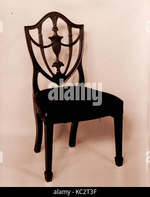 Side Chair, 1794–99, Made in Salem, Massachusetts, United States, American, Mahogany, 39 1/2 x 21 1/4 x 18 in. (100.3 - Stock Photo
