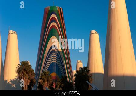 Europe avenue, La Cartuja Island, Seville, Region of Andalusia, Spain, Europe - Stock Photo