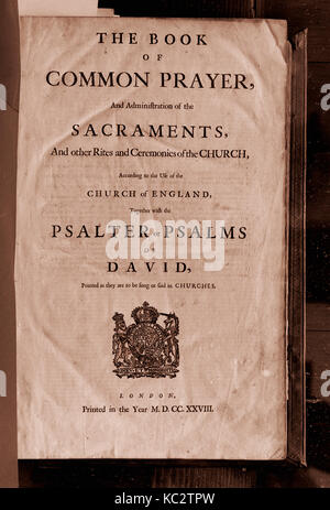 Book of Common Prayer, Bible, and Book of Psalms, 1715–28 - Stock Photo