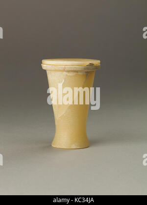 Cosmetic jar with lid, Middle Kingdom, Dynasty 12, ca. 1814–1805 B.C., From Egypt, Upper Egypt, Thebes, Asasif, - Stock Photo