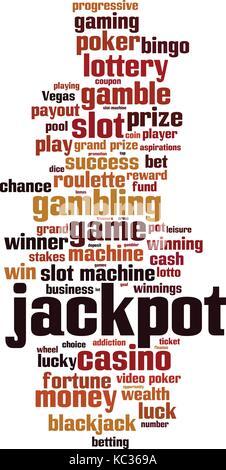 Jackpot word cloud concept. Vector illustration - Stock Photo