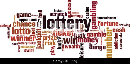 Lottery word cloud concept. Vector illustration - Stock Photo