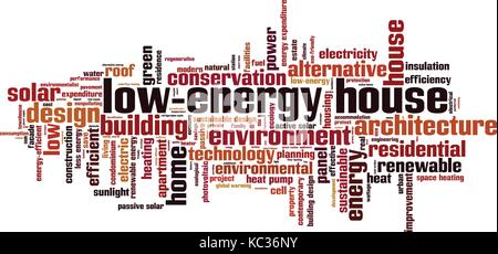 Low-energy house word cloud concept. Vector illustration - Stock Photo