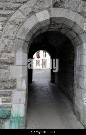 Saint-Jean city Gate in Québec City, Canada - Stock Photo