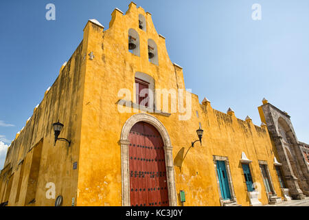 April 21, 2014 Campeche, Mexico:  well preserved architectural details in the UNESCO World Heritage colonial city - Stock Photo