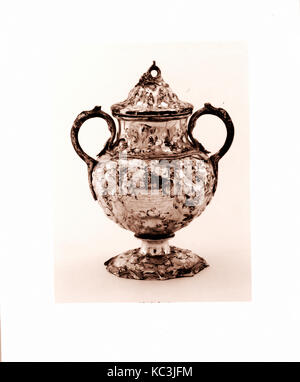 Sugar Bowl, 1850, Made in New York, New York, United States, American, Silver, Overall: 8 15/16 x 7 1/8 x 5 5/16 - Stock Photo