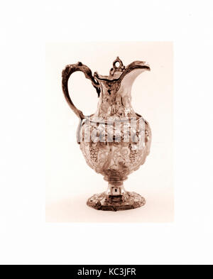 Milk Pot, 1850, Made in New York, New York, United States, American, Silver, 8 5/16 x 5 1/16 x 4 3/16 in. (21.1 - Stock Photo
