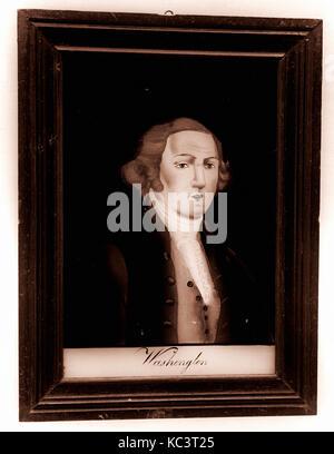 Plaque of George Washington, After Gilbert Stuart, 1776–1830 - Stock Photo