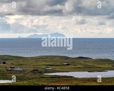 St Kilda from the island of South Uist, Outer Hebrides, Western Isles of Scotland - Stock Photo