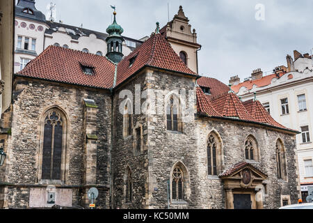 The Church of St. Martin in the Wall, Old Town, Prague - Stock Photo