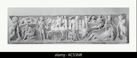 Marble sarcophagus with the myth of Endymion, mid-2nd century A.D - Stock Photo