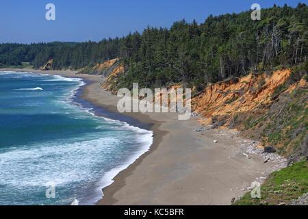 A colorful seascape of the coast near La Jolla, California