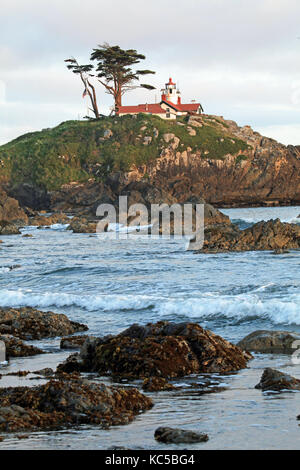 The Battery Point Lighthouse in Crescent City, California near the near the Oregon border - Stock Photo