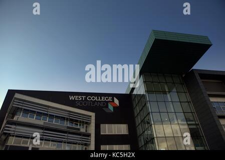 West College Scotland campus entrance  Clydebank, United Kingdom - Stock Photo