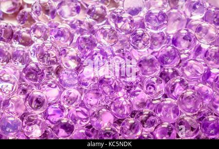 Purple Gel Round Shaped Balls - Stock Photo