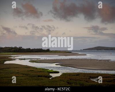 River Teifi estuary and creeks, Cardigan Island, St Dogmaels - Stock Photo