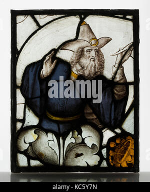Panel with Prophet from a Tree of Jesse Window, ca. 1500 - Stock Photo